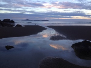 Sunset looking toward the beach
